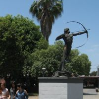 Statue of the Greek and Roman god Apollo on the El Camino College Compton Center campus, in Compton, CA - USA., Комптон