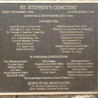St. Stephens Cemetery (1899): Plaque, Конкорд