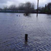2005 Flood: Baseball parking lot off Olivera Road flood, Конкорд