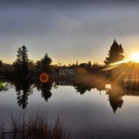 Sunset At Ellis Lake, Конкорд