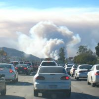 Wildfire at Yorba Linda, November 15, 2008, Корона