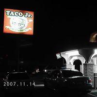 Taco Jr. Street Sign at Night, Коста-Меса