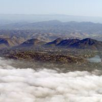 Lake Murray and Cowles Mountain - aerial view, Ла-Меса