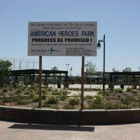 American Heroes Park in Lancaster, West Entrance, Ланкастер