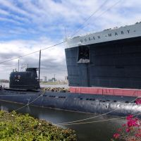 Long Beach, CA.. Queen Mary, and Russian submarine, Лонг-Бич