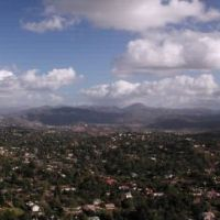 View south from Mt. Helix, La Mesa, CA towards Mt. San Miguel, Маунт-Хеликс