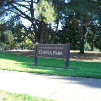 Cuesta Park entrance, Моунтайн-Вью