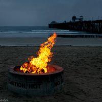 Beach campfire, Оушнсайд