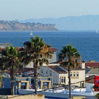 Palos Verdes and Catalina from Hermosa Beach, California, Редондо-Бич