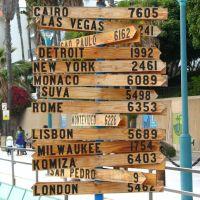 City Distances Sign, Редондо-Бич
