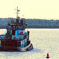 Redondo Beach • King Harbor • Tug Boat 21, Редондо-Бич