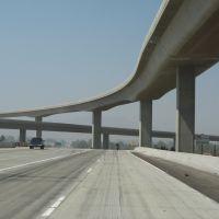 Pomona-Riverside Freeways interchange, California, Риверсайд