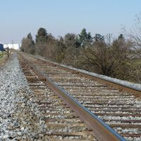 San Joaquin Valley Railroad Co tracks leading out of Reedley, just west of the Kings River, 1/2013, Ридли