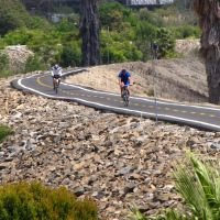 Bicycling on the San Gabriel River Trail, Long Beach, Calif., Россмур