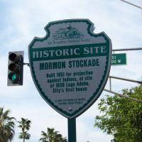 California Landmark No. 44 Mormon Stockade Site, Сан-Бернардино