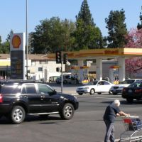 Shell Gas Station,Los Angeles, Сан-Габриэль