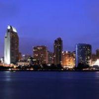 San Diego @ Night Panorama, Сан-Диего