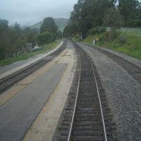 San Luis Obispo Amtrak station platform, looking north., Сан-Луис-Обиспо