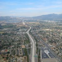 Freeway 5 from above, San Fernando Valley, Сан-Фернандо