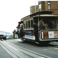 Cable Car at San Francisco Hill in the 80s, Сан-Франциско