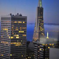Transamerica Pyramid night view, San Francisco, Сан-Франциско
