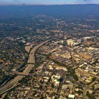 Sinclair Fwy (280) aerial view, San Jose, CA, Сан-Хосе