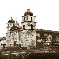 Santa Barbara Mission, circa 1880 caviews.com, Санта-Барбара