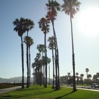 Afternoon in Santa Bárbara beach, California, Санта-Барбара