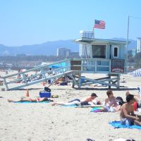 Santa Monica Beach at lunch, Санта-Моника