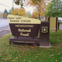 Upper Lake Ranger Station, Mendocino National Forest, Саратога