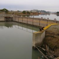 BEL AIR SHIPYARDS. FLOATING CONCRETE CASSION CLOSING OFF THE ENTRANCE TO BASIN 4., Саут-Сан-Франциско