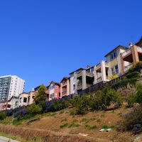 Сheerful houses. San Francisco, Sister Cities Blvd., Саут-Сан-Франциско