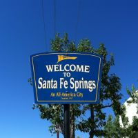 Santa Fe Springs City Sign, Серритос