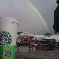 Starbucks and a Rainbow in Monterey, Ca, Сисайд