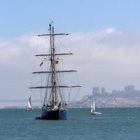 Sailing Ship off Sausalito, 9-2005, Сусалито