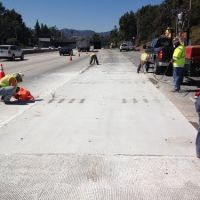 WB I-210 east of Rt. 2 split;  VIDEO LINK ATTACHED, 3 panel demonstration project., Флинтридж