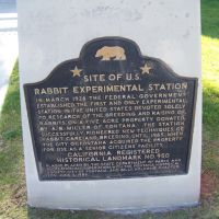 California Landmark No. 950 Site of U.S. Rabbit Experimental Station, Фонтана