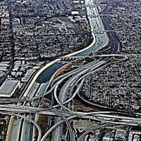 The 405 Fwy taken from TACA flight #250 inbound to LAX, Хавторн