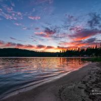 Sunset on Bass Lake, Эль-Монт