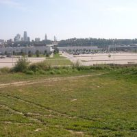 Looking east from Kaw River levee, Вичита