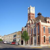 C L Hoover Opera House and other historic buildings on 7th street, downtown Junction City, KS, Джанкшин-Сити