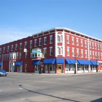colorful historic building, downtown, Junction City, KS, Джанкшин-Сити
