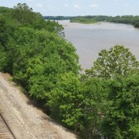 Tracks along the Kansas River at Lecompton, Лекомптон