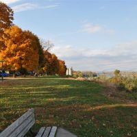 fall colors, along N Esplanade St, west of Missouri River, Leavenworth, KS, Ливенворт