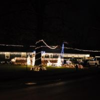 Eye catching residence Christmas lights, Overland Park, KS, Мерриам