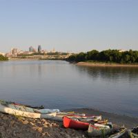 looking toward downtown from Kaw Point, Kansas City, KS, Миссион-Вудс