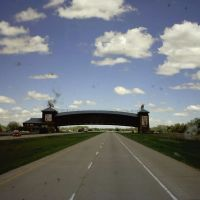 Fly Over on The Platte River Road, I 80 East, Kearney NE, USA, Нортон