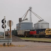 Westbound Kyle Railroad Train at Phillipsburg, KS, Нортон
