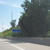 Kansas welcome sign, Оакли