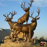 Mountain Monarchs, bronze bucks, Cabelas, Kansas City, KS, Овербрук